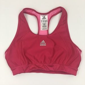 Adidas TechFit Racer Back Sports Bra in Pink